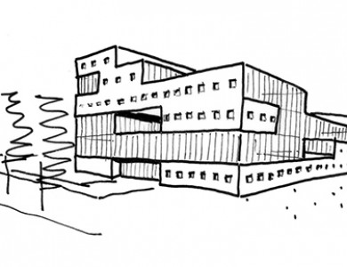 PRA International, Groningen - sketch design